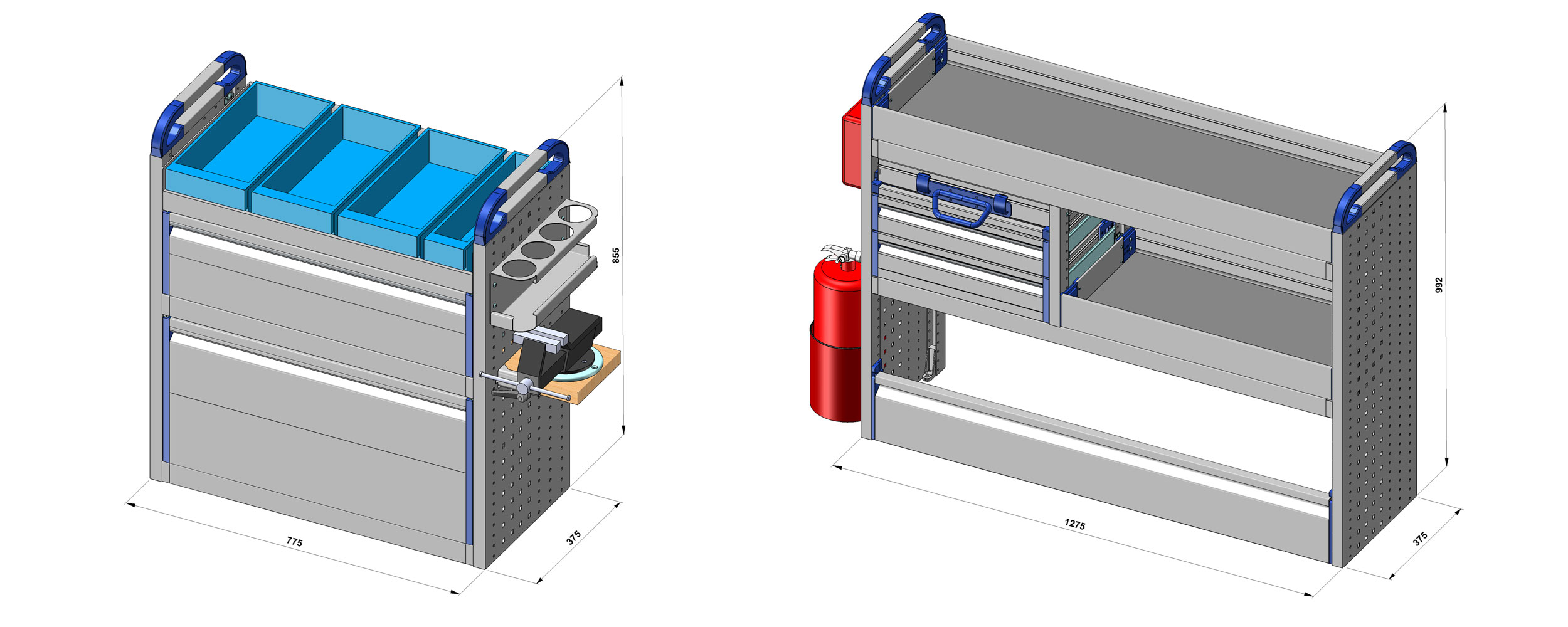 dibujos técnicos furgonetas taller movil estandar