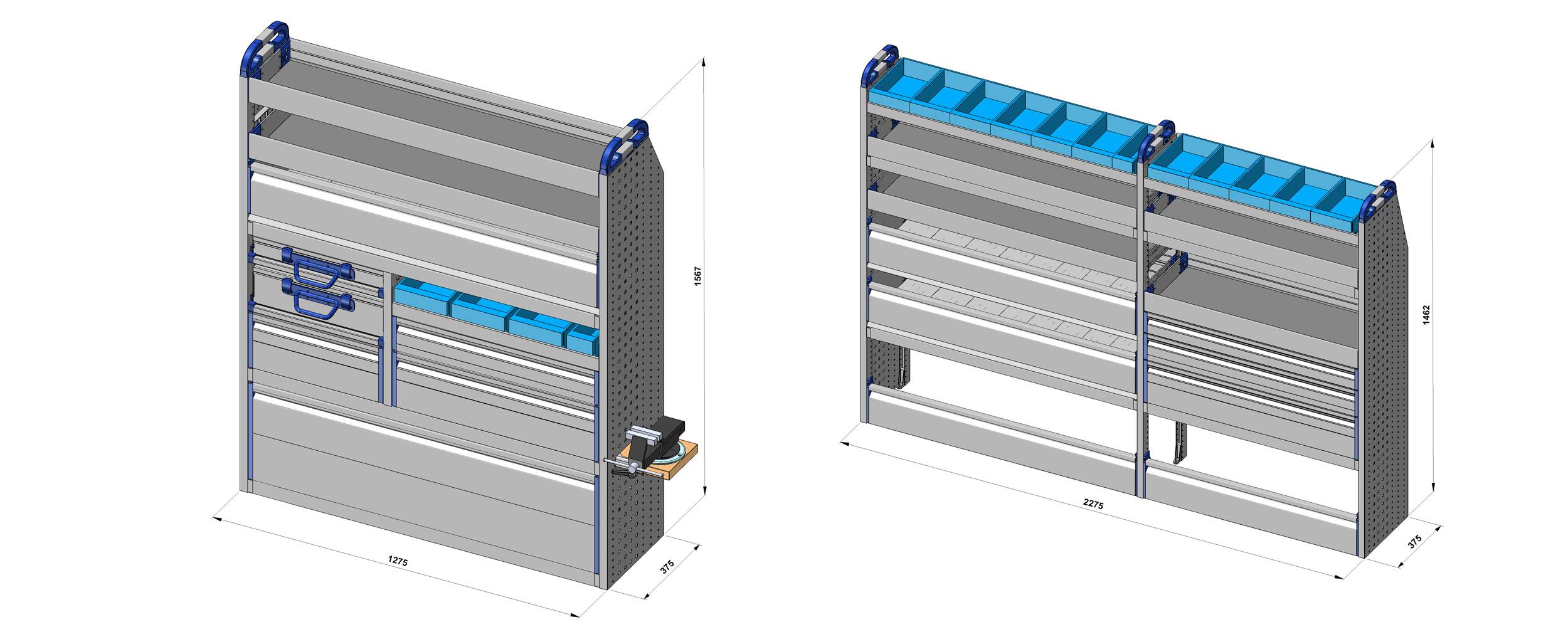 dibujos técnicos furgonetas taller movil personalizado 1