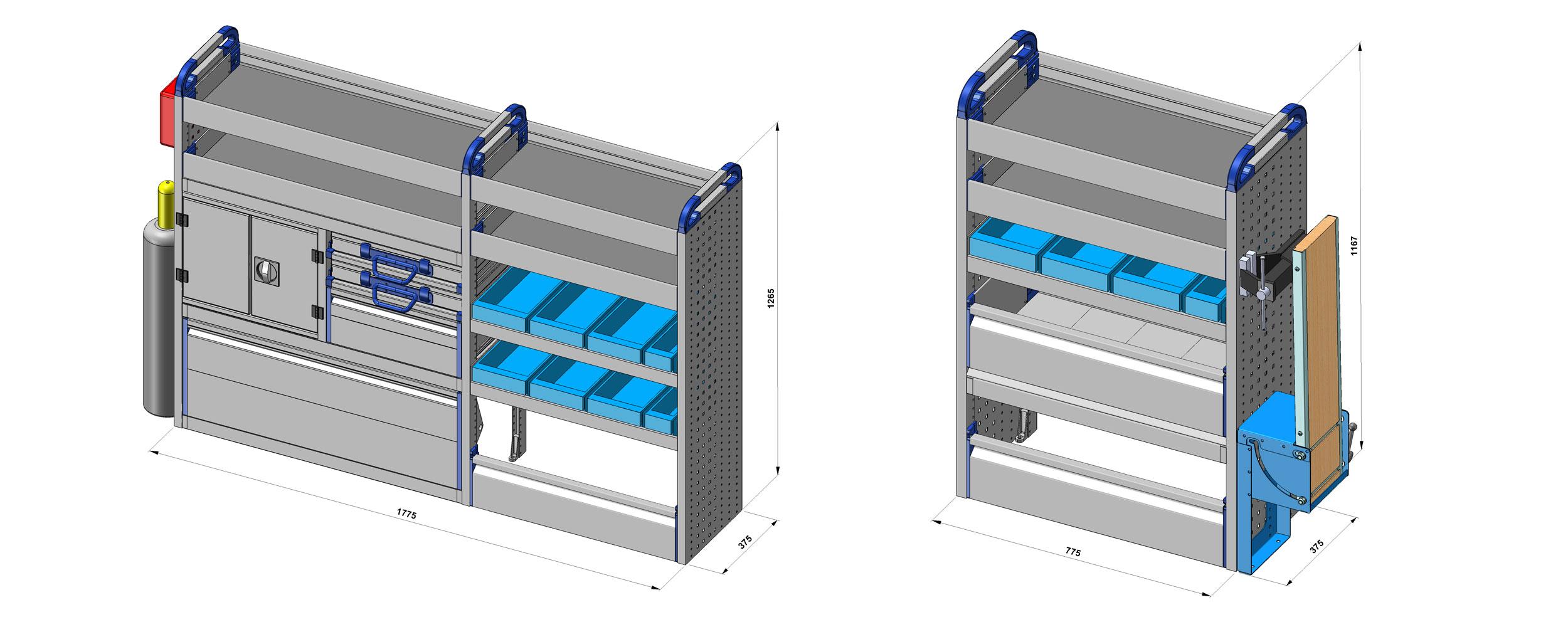 dibujos técnicos furgonetas taller movil personalizado 2