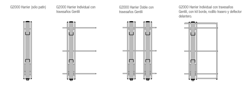 Porta Escaleras G2000 cuatro configuraciónes
