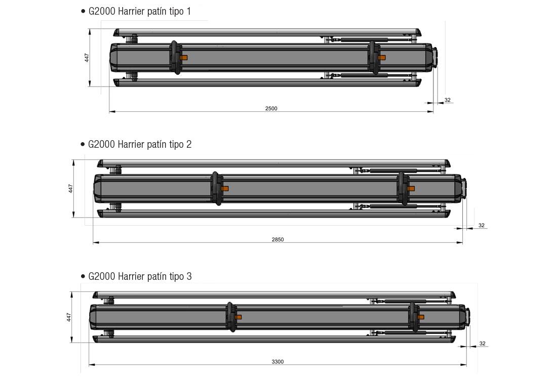 Porta Escaleras G2000 tres versiones